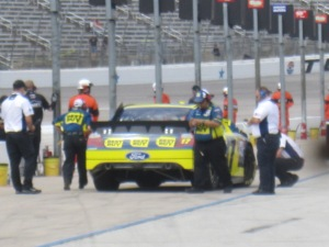 Matt Kenseth refueling during practice