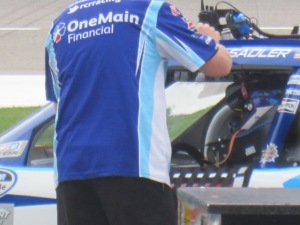 Elliott Sadler waiting for his turn in time trials.