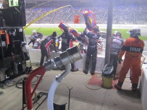 Pit Stop by Kenseth during Nationwide Race