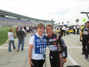 With Anna, rear-jack for National Guard Panther Racing #4 car