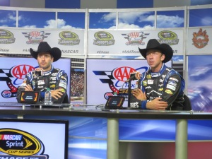 Jimmie & Chad post-race