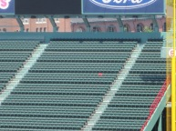 Lone red chair is home of longest homerun