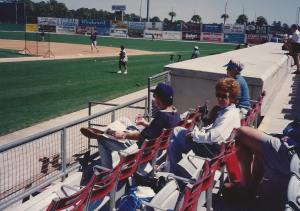 Mom at Rangers Spring Training in Port Charlotte FL - 80's