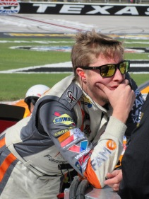 Smithley deep in thought after his teammate his the wall during qualifying