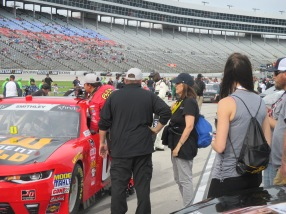 Talking to Garrett's Crew Chief