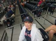 All Decked Out in my Red Sox Gear