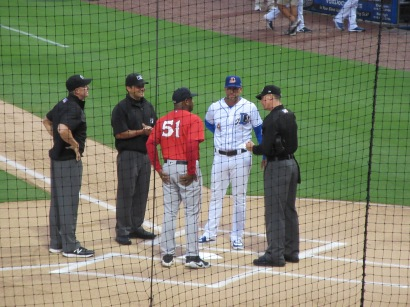 Managers and Umps Line-Up Exchange